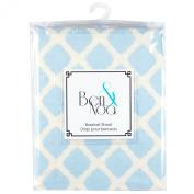 Ben & Noa Fitted Bassinet Sheet Flannel, Blue Lattice