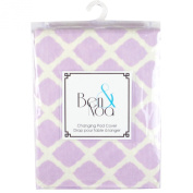 Ben & Noa Fitted Changing Pad Sheet Flannel, Lilac Lattice