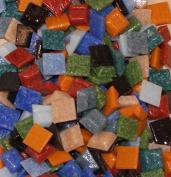 Hakatai Glass Mosaic Tile 1cm - ½ Pound Rainbow Blend Assortment