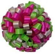 Large Car Bow - 60cm - Silver Hot Pink & Lime