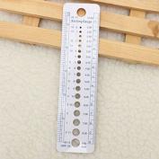 Buytra US UK Canada Sizes Knitting Needle Gauge Inch cm Ruler Tool