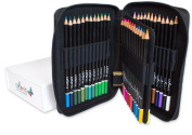 Premium Coloured Pencils For Adults Set of 48 - Includes Coloured Pencils, Travel Case, Pencil Sharpener, and Gift Box - Perfect Colouring Pencils For Adult Colouring Books by ColorIt