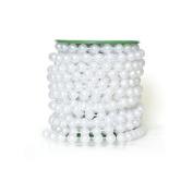 AllHeartDesires 10m Roll White Pearl String Bead Garland Strands Wedding Centrepieces Manzanita Tree Christmas Chandelier Deco