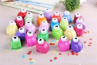 Krismile® 20 Pieces Set Mini Paper Craft Punch Card Scrapbooking Engraving Kid Children Cut DIY Handmade Tools Colourful