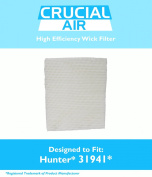 Hunter 31941 Humidifier Wick Filter Fits 31941 & 31952, Designed & Engineered by Crucial Air