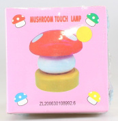ETHAHE Cute Small LED Mushroom Head Press Down Touch Lamp Night Light Baby Nursery Bedside Pink Battery Not Included