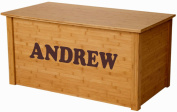 Wood Toy Box, Large Bamboo Toy Chest, Personalised Cookie Font, Custom Options