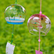 2-piece Pack Japanese Furin Glass Wind Chimes Bells Birthday Christmas Gift Home Living Decors