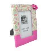 Handcrafted Hot Pink Blossom Design 10cm x 15cm Photo Frame