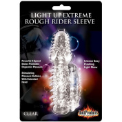 Rough Rider Light Up Vibrating Pleasure Sleeve 4 Speed Clear