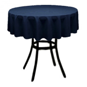 Round Polyester Tablecloth 150cm (DARK NAVY) By Runner Linens Factory
