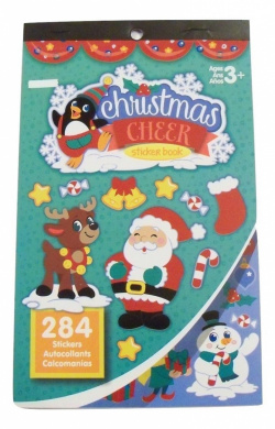Darice Sticker Book ~ Christmas Edition (Christmas Cheer; 284 Stickers)