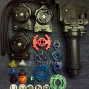 Randomised Parts Lot w/ Grip Launchers Beyblade Spin Tracks Bolts Rings , Toys & Games, Battling Top Toys,