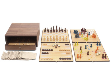 Collector's Edition 5-in-1 Game Set with Walnut & Oak Finish