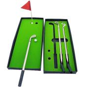 3 Golf Pens & Balls Including Putting Green Golf Clubs Models Ball Pen Golf Balls Flag Set Gift
