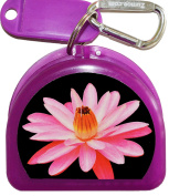 Zumoe Floral Mouthguard Case, Mouth Guard Case, Retainer Case, Dental Case or Nipple Shield Case, Called Floating Pink
