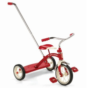 Radio Flyer Classic Tricycle with Push Handle, Red by Radio Flyer