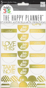 """me & my BIG ideas PPS-53 5-Sheets Create 365 The Happy Planner Gold Foil """"To Do"""" Stickers"""
