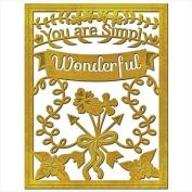 Spellbinders S4-562 Card Creator Simply Wonderful Deco Card Front, Medium