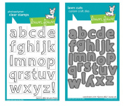 Lawn Fawn Quinn's ABC's Clear Stamp Set and Quinn's ABC's Die Set Craft Die - Custom Created Set of One Quinn's ABC's (Small Letters) Clear Stamp Set-LF353 and One Quinn's ABC's (Small Letters) Craft Die-LF490