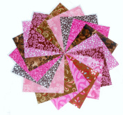 40 13cm Beautiful Pinks and Browns Charm Pack