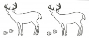 Quilting Creations Deer Quilt Stencil, 13cm