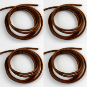 CHENGYIDA 4 - PACK (180cm Long, 0.5cm Thickness) Leather Belt for Singer Treadle Sewing Machine Cowhide Belting