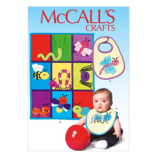 McCall's Patterns M7172 Bib Sewing Template, Quilt and Bug Appliques, One Size Only