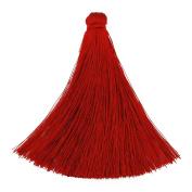 20PCS 8cm silky tassel, Handmade tassel for making jewellery, Red