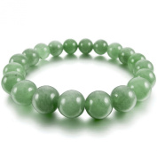 Men,Women's 10mm 12mm Bracelet Link Wrist Energy Stone Aventurine Green Buddha Mala Beads