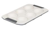 Viking 4040-3506-CGY Ceramic Nonstick Bakeware Muffin Pan, 6 Cup