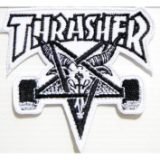 THRASHER SKATEBOARD Skate Goat Logo Sew Embroidered Iron On Patch Great gift For men and woman
