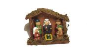Children 13cm Ceramic Stone Nativity Scene in Manger Christmas Figurine