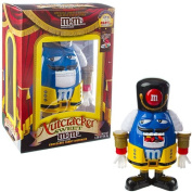 M & M's Limited Edition Nutcracker Sweet Holiday Candy Dispenser, Blue Character with Yellow Holiday Suit