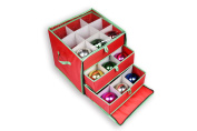 Christmas Ornament Storage Box with Drawers for 27 Large Ornaments