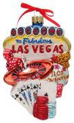 Kurt Adler C4056 Las Vegas Glass Cityscape Ornament, 14cm