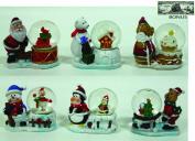 Winter/Christmas Snow Globe Set of 6 (Comes Sealed) BONUS Non-monetary Jack Skellington Bill Included