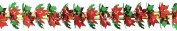 Poinsettia & Holly Garland/Column Party Accessory (1 count)