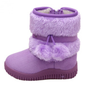 Toddler Baby Boy's Girl's Snow Boot Flat Pom Pom Winter Warm Shoes Ankle Booties