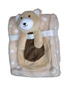 Buddies Cuddly Animal Soft Baby Blankets- Bear Taupe
