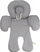 Dordor & Gorgor's Organic Cotton Newborn Infant Head Body Car Baby Seat Support Pillow, Grey