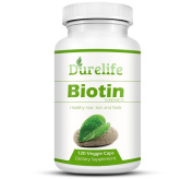Biotin Supplement 120 count High Potency 5000 mcg By Durelife, Biotin is Perfect for Hair Growth And Strong Nails and Glowing Skin