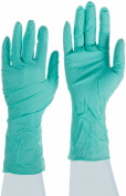 Ansell NeoTouch 25-201 Neoprene Glove, Chemical Resistant, Powder Free, Rolled Beaded Cuff, 28cm Length, 5 mils Thick, Medium