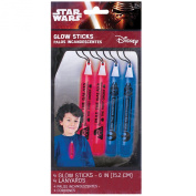 Amscan 4 CountStar Wars Episode Vll Printed Glowstick Lanyards, Multicolor