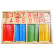 VANKER Baby Kids Wooden Mathematical Intelligence Development Early Learning Counting Toy Stick