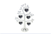 Lesser and Pavey - Little Treats Silver Plated Family Tree with Heart Frames