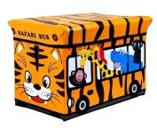 GMMH Stool Safari 49 x 31 x 31 cm foldable Original GMMH Toy box Toy storage box trunk toy box AufbewahrungsboxSitzhocker Foldable