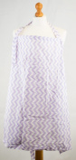 Palm and Pond Nursing Cover Extra Large Purple Zigzag
