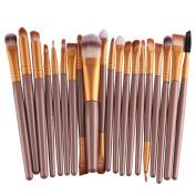 Feng Pro Wool Make Up Brush Set 20 pcs Makeup Brush Set tools Make-up Toiletry Kit