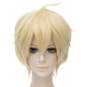 Seraph Of The End Mikaela.Hyakuya Short Pale Gold Full Wigs Hair Cosplay Anime